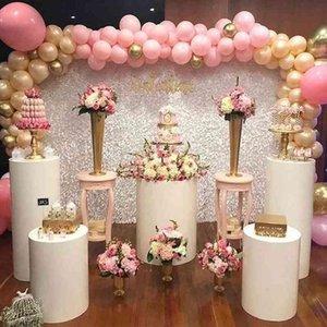3pcs Round Cylinder Pedestal Display Art Decor Cake Rack Plinths Pillars for DIY Wedding Party Decorations Holiday