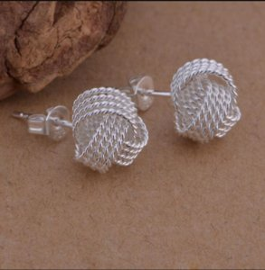 Fashion Jewelry Shining Twist Stud 925 Silver Earings Stud Unisex Earring Jewelry Mix 4styles stud earrings ps1591