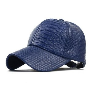 2021 Spring Fashion Men Women PU Leather adjustable Baseball Cap Hip Hop Caps Sun Visor Snapback Flat Dance Street Trendy Hats