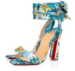 Perfect Nice Crosse Du Desert Sandals Luxurious Brands Red Bottom Women's High Heels Ankle Strap Lady Gladiator Sandalias Dress Party Wedding