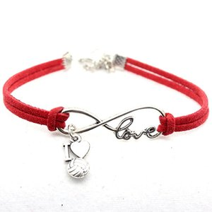 2021 Infinity Love Charm Bracelets Hot Pink Red Black Gifts for Women & Men Sports bangle Jewelry