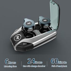 Wireless earphones Bluetooth V5.0 TWS sports Headphone LED Display With Power Bank Headset Microphon