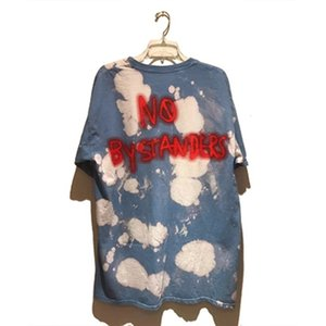 Travis Scott cactus Jack no bystanders tour graffiti tie dye short sleeve T-shirt