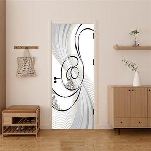 3D Door Sticker Custom Size Waterproof Self Adhesive Removable Wallpaper Poster Living Room Bedroom Door Decoration Wall Decals 692 V2