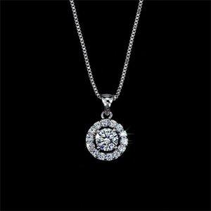 Moda 18k oro plateado plateado collar de cristal austriaco pendientes de anillo Juego de joyas para mujeres Joyas de boda de aniversario de las señoras 240 T2
