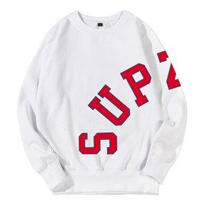 Sudaderas con capucha Supzoom Hombres Sudadera Llegada Top Fashion Casual Imprimir O-cuello Ninguno Conofle de algodón completo Hip Hop Free