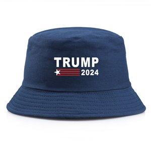 5 couleurs Simple Trump Bucket Sun Cap USA Élection présidentielle Trump 2024 Pêcheur Chapeau Spring Summ Summer Chute Extérieur LLA575