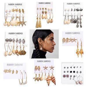 Woozu 2021 Fshion Sttement Errings Bohemin Se Bech Shell Errings For Women Hnging Drop Ering Femle DIY Jewelry