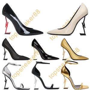 Paris Women Dress Shoes Red Bottom High-heeled Luxurys Designers Shoe 10cm Heels Black Golden Gold Wedding Bottoms