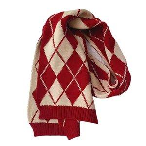 Kids Scarves Children Scarf Baby Ring Boys Girls Accessories Autumn Winter Keep Warm Knitted Wool Plaid B8958