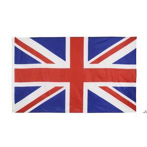 high quality 90*150cm 3*5fts 100% polyester Union Jack United kingdom UK flag AHB5808