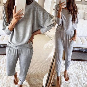 Gym Clothing 2021 Spring Autumn Women Tracksuit Short Sweatshirts And Sweatpants 2 Piece Set Casual Solid Sports Suit Jogger Workout