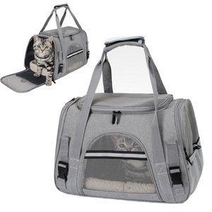 Носители кошек, ящики Дома Дома для домашних животных Рюкзак Дышащий путешествия Открытая сумка для маленьких собак Кошки портативные упаковочные материалы
