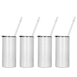 Sublimação Caneca de café em branco 15oz canecas de transferência térmica térmica de parede dupla garrafas de viagem isoladas de aço inoxidável tumbler de cilindro de vácuo