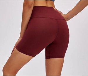 Lu 2064 Alinhar Shorts Yoga Cintura Alta Mulheres Solid Sports Ginásio Esporte Calças Leggings Elastic Fitness Senhora Run Velocidade Curto Yogaworld