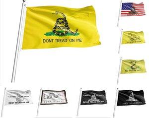US Stock 90*150 Trump Flag 3*5 Feet 90X150cm Presidential dont Tread on Me Snake Gadsden Flags