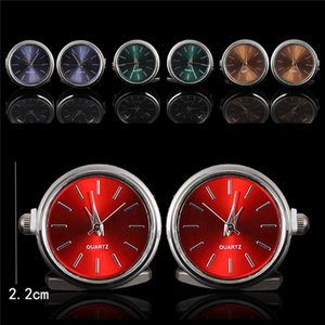 Men's Luxury Pair Watches Cufflinks Classic Rotating Quartz Clock Holiday Gifts Vintage Cuff Links for Men Suit Shirt Sleeve