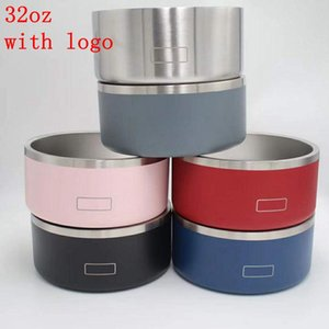 Boomer Dog Bowls 32 oz Stainless Steel Tumblers Double Wall Vacuum Insulated Large Capacity 32oz Pets Supplies Mugs WLL1018