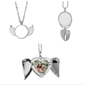 Sublimation Big Wings Necklaces Pendants Party Favor Thermal Transfer Blanks Car Pendant Angel Wing Rearview Mirror Decoration Hanging Charm Ornaments