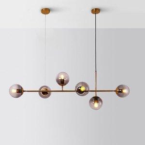 Pendant Lamps Modern Led Glass Ball Luminaria Pendente Luminaire Suspendu Lustre Kitchen Fixtures Bedroom Dining Room