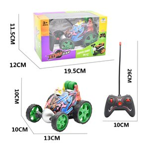 Wireless remote Flip car electric tumbling stunt graffiti control Christmas gift kids competition toys