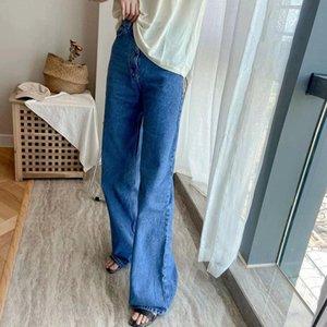 KlaCwaya 2021 Kot Kadın Yüksek Bel Streetwear Vintage Denim Pantolon Anne Artı Bile Boyu Kadın