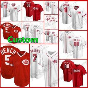 19 Joey Votto Custom 5 Johnny Banque 7 Eugenio Suarez Cincinnati Baseball 14 Pete Rose Barry Larkin Ken Griffey JR 22 Dreek Dietrich Jerseys