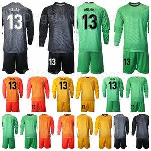 2020 Manica lunga portiere calcio 1 Antonio ADAN Jersey Set Portiere 13 Jan Oblak 1 Miguel Angel Moya Camicia da calcio Kit Uniform MJ