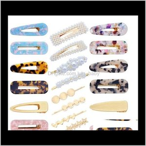 20 Pcs Pearls Acrylic Resin Hollow Geometric Clip Hairpins For Women And Ladies Headwear Styling Tools Lbxa5 Xldsg