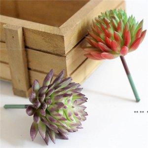 Suculents artificiales Plantas Simulación de PVC Aloe Lotus Flower Paisaje DIY Faux Flor Creativa Decoración del hogar DIY Accesorios EWD5592