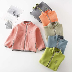 Polar Fleece Jackets for Kids Spring Girl Stand Collar Long Sleeve Warm Boys Coat Children 2-14 Years Outerwear Teenager Clothes