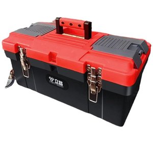 Tool Organizers Plastic Large Box Portable Garage Storage Profesional Electrician Suitcase Caisse Outil Repair Container BS50XZ