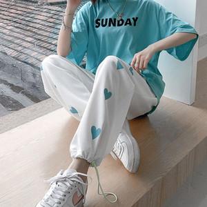 Neploha мужские напечатанные повседневные негабаритные брюки 2021 мода женщины корейская уличная одежда брюки мужская одежда