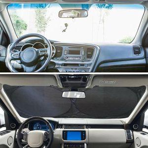 Car Sunshade Universal Windshield Sun Shade Front Window Visor Foil Anti Windscreen Reflector Silver Cover UV Summer T0N9