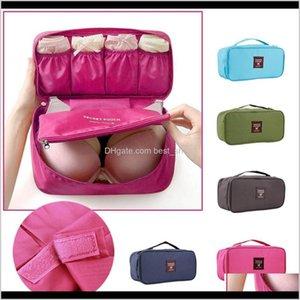 Waterproof Women Girl Lady Portable Travel Bra Underwear Lingerie Organizer Bag Cosmetic Makeup Toiletry Wash Case Plwrb Bags Yxuym