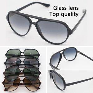Top Qualität Glaslinse Sonnenbrille Metallscharnier Mode Luxuriöse Designer Runde Rahmen Männer Frauen Vintage Sonnenbrille mit Kasten und Fall