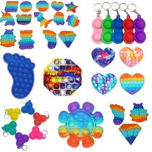 Push Bubble Pop It Fidget Toy Sensory Silicone Reliever Estresse Ansiedade Alívio Autismo Especial Necessidades Soft Squeeze Toy