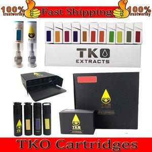 TKO Vape Pen Cartridges Упаковка 0,8 мл 1 мл Керамический Толстый распылитель масляного масла 510 Резьба E CiGarette Cookies Тележки