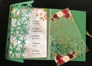 Cubiertas de invitación de boda de corte láser, invitación acrílica, 10sets invitaciones acrílicas personalizadas, tarjetas de menú impresas saludo