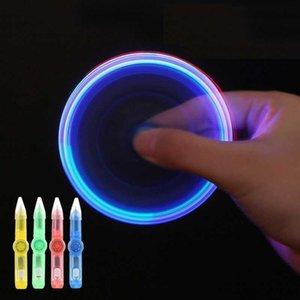 Interessante Fingering Rotating Spinner Led Luminoso Gyro Pen Office Anti Stress Kinetic Desk Toy 1 pezzo