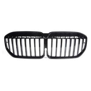1 PCS 3 Colors Carbon Front Bumper Kidney Grill Grille For BMW 7 Series G11 G12 LCI 2020+ Single Slat Mesh Grilles