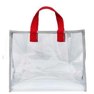Summer Children's Large Capacity Transparent Swimming Bag Fashion Waterproof Outdoor Travel Wash Cosmetic Bags Swimsuit Storage Handbag G701JU1