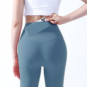 Lulu fitness pantalones de fitness bolsillo de mujer cintura alta cadera elevando correr nueve punto desnudo sentimiento deportes durazno hip yoga pantalones