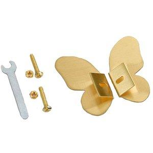 Handles & Pulls Brass Cabinet Drawer Gold Butterfly Universal Nordic Cupboard Hidden Handle Modern Triangular Furniture Q1FD