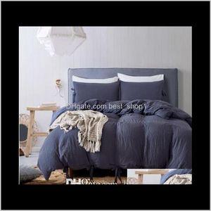 Us Size 3Pcs Luxury Bedding Set Duvet Polyester Knot Bed Cover Set King Sizes Simple Style Duvet Cover Set Bedding Supplies 6Ziw7 Af0Dc