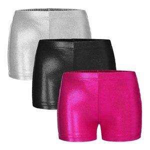 Shorts Kids Girl Elastic Waist Sports Bottoms For Ballet Dance Yoga Gymnastic Workout Bright Bronzing Dancewear Children