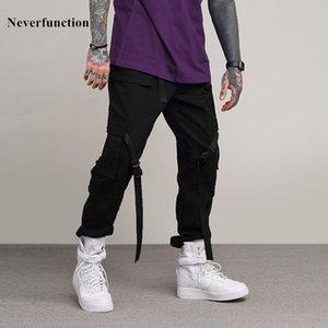 pantalon newfunction slim de haute qualité coton multi-poche de poche décontractée mode solide joggers hétéros vêtement de sport