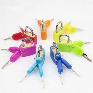 30x23 ملليمتر صغير صغير قوي معدن قفل حقيبة سفر حقيبة مذكرات كتاب قفل مع 2 مفاتيح الأمتعة الأمتعة قفل الديكور العديد من الألوان OWD5587