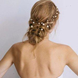 Donne capelli accessori perle perline perline perline tacchini coda di cavallo ragazze flower bridal wedding clip per capelli barrette capelli ornamento