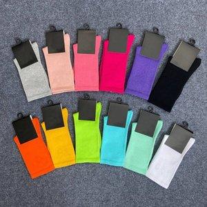 En Sıcak Satış Spor Çorap Çift TubeSocks Kişilik Kadın Tasarım Öğretmen Okul Tarzı Karışık Renk Toptan